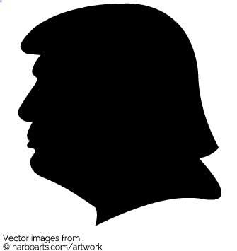 335x355 Download Trump Profile Silhouette