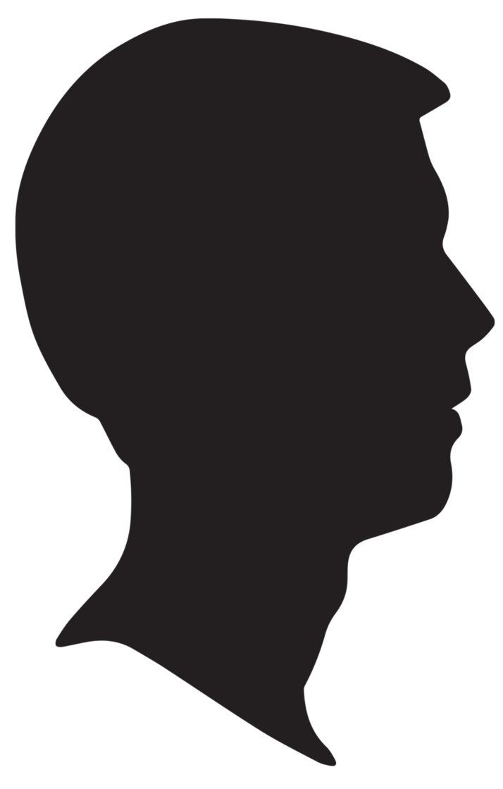 714x1120 Male Silhouette Profile By Snicklefritz Stock