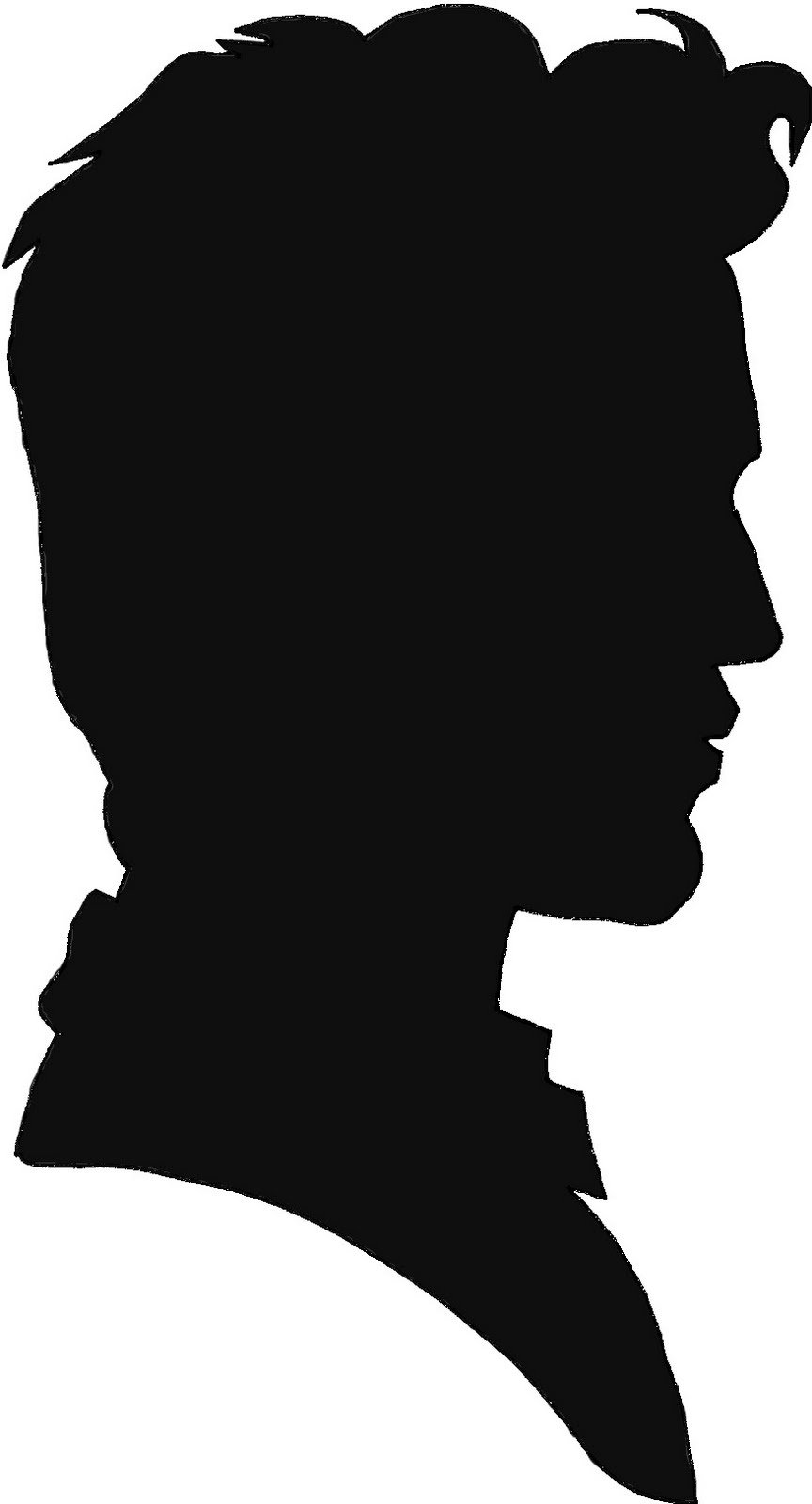 864x1600 Man Silhouette Face