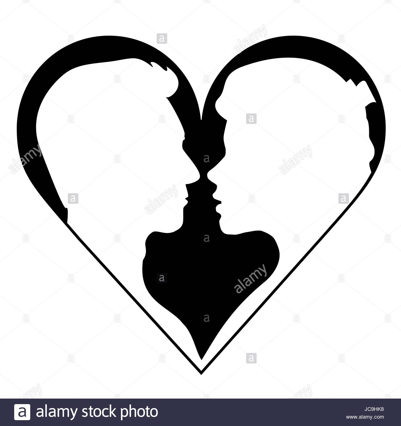 1300x1382 Profile Clipart Couple Silhouette Many Interesting Cliparts