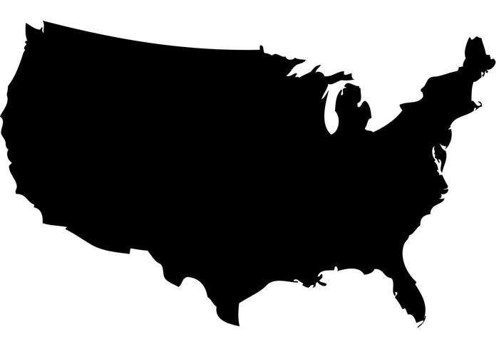 700x490 Green Us Map Silhouette Png United States Map Outline Eps Maps Us