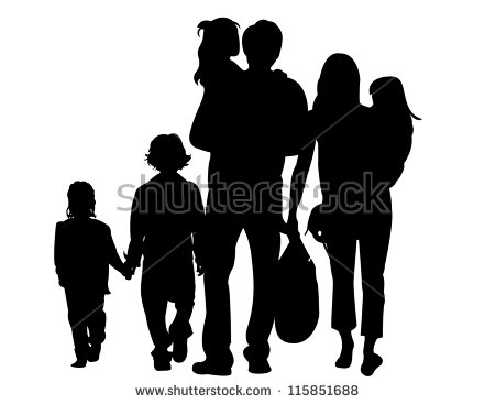 450x367 Family Silhouette Vectors Photos And Psd Files Free Download