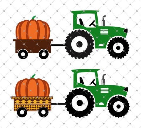 480x436 Pumpkin Delivery Tractor Svg Cut Files