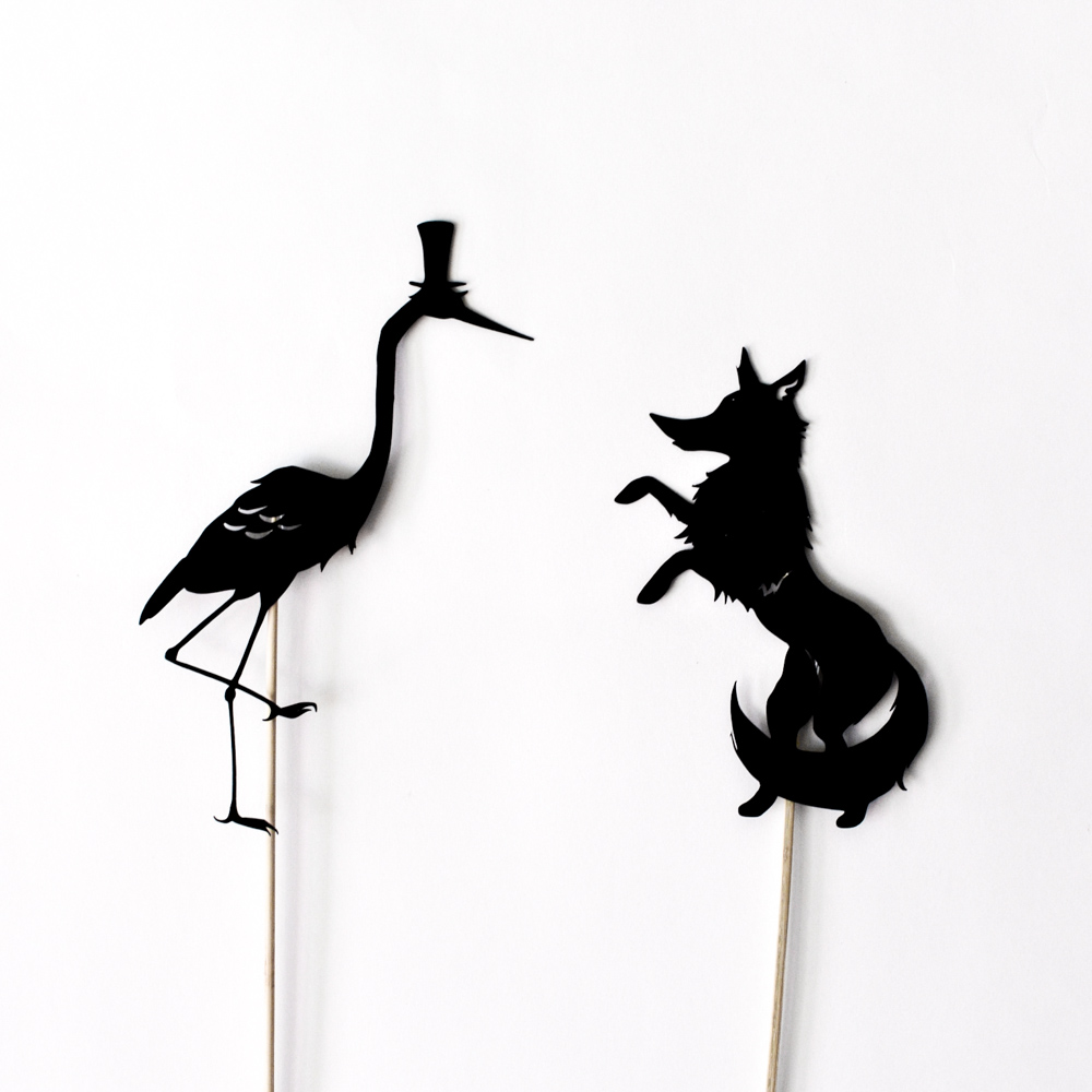 1000x1000 The Fox And The Crane 4 Shadow Puppets