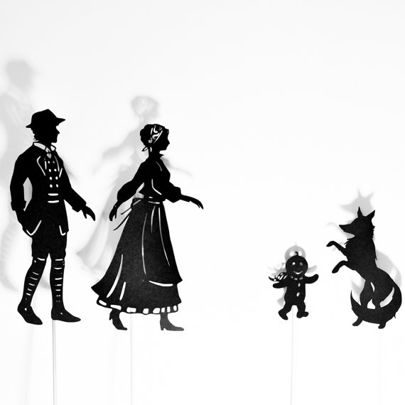 570x570 The Gingerbread Man Shadow Puppet Set