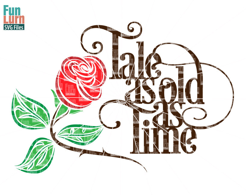 818x649 Tale As Old As Time Svg , Beauty, Beast, Rose Svg, Wedding Quote