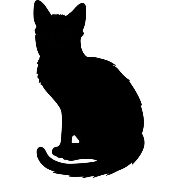 600x600 Cat Silhouette 2 Liked On Polyvore Featuring Animals, Cat