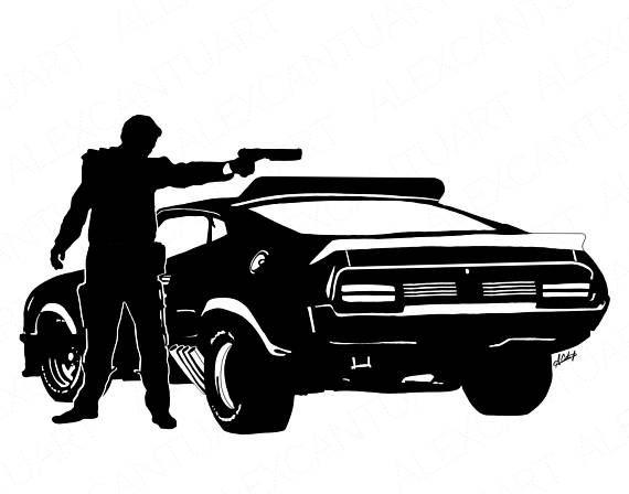 570x448 Muscle Car Silhouette Logo