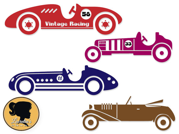 570x428 Vintage Racing Svg, Cars Silhouettes For Silhouette Cameo