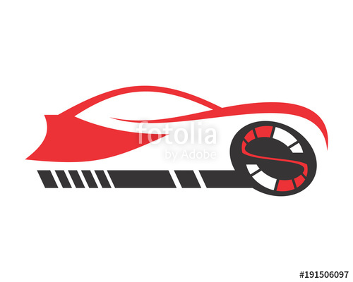 500x400 Race Car Automotive Vehicle Dealer Drive Image Vector Icon
