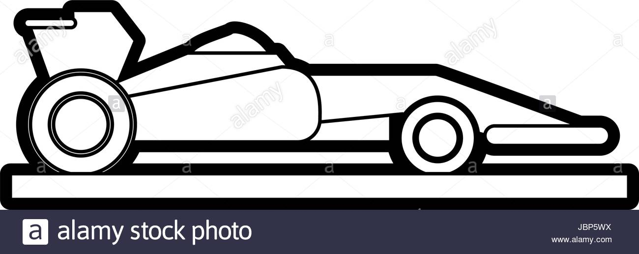 1300x517 Race Car Silhouette Illustration Stock Vector Art Amp Illustration