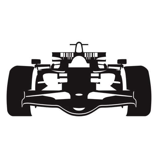 512x512 Formula One Racing Car Silhouette