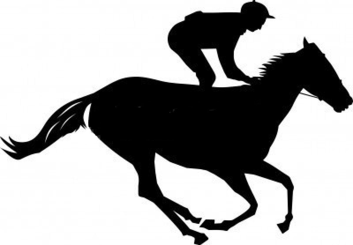 1200x834 Free Silhouette Clip Art Race Horse
