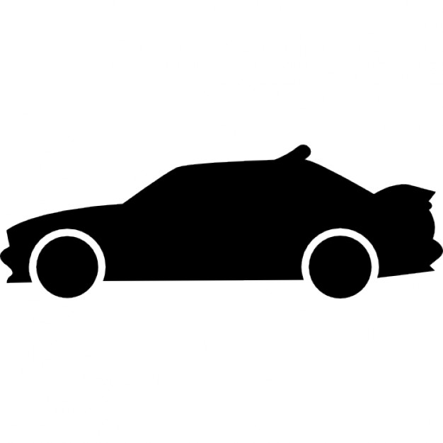 626x626 Racing Car Side View Silhouette Icons Free Download