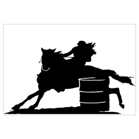 460x460 Racing Silhouette Poster