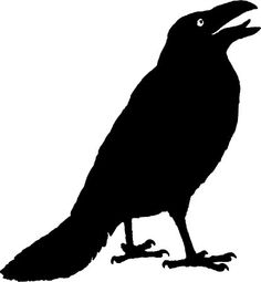 236x255 Raven Silhouette Standing Final(3) Silhouettes
