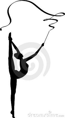 247x450 Rhythmic Gymnastics Ribbon Stock Illustrations 152 Rhythmic