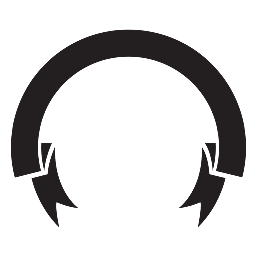 512x512 Ribbon Label Emblem Silhouette