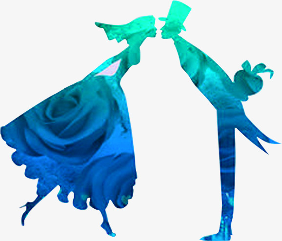 578x494 Prince And Princess Rose Silhouette, Prince, Princess, Roses Png