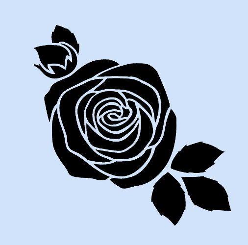 506x500 Rose Stencil Flower Roses Flowers Template Flexible Stencils Craft