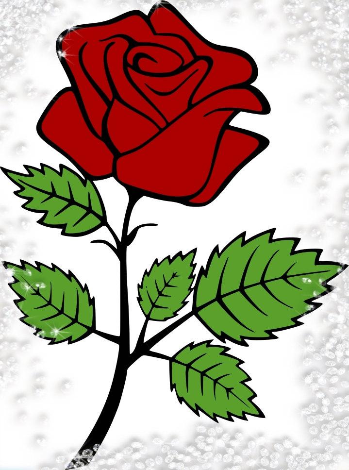 719x968 Rose Svg