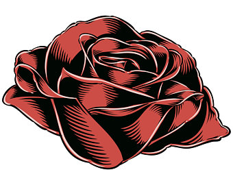 340x270 Rose Outline Etsy
