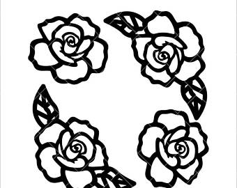 340x270 Rose Silhouette Etsy