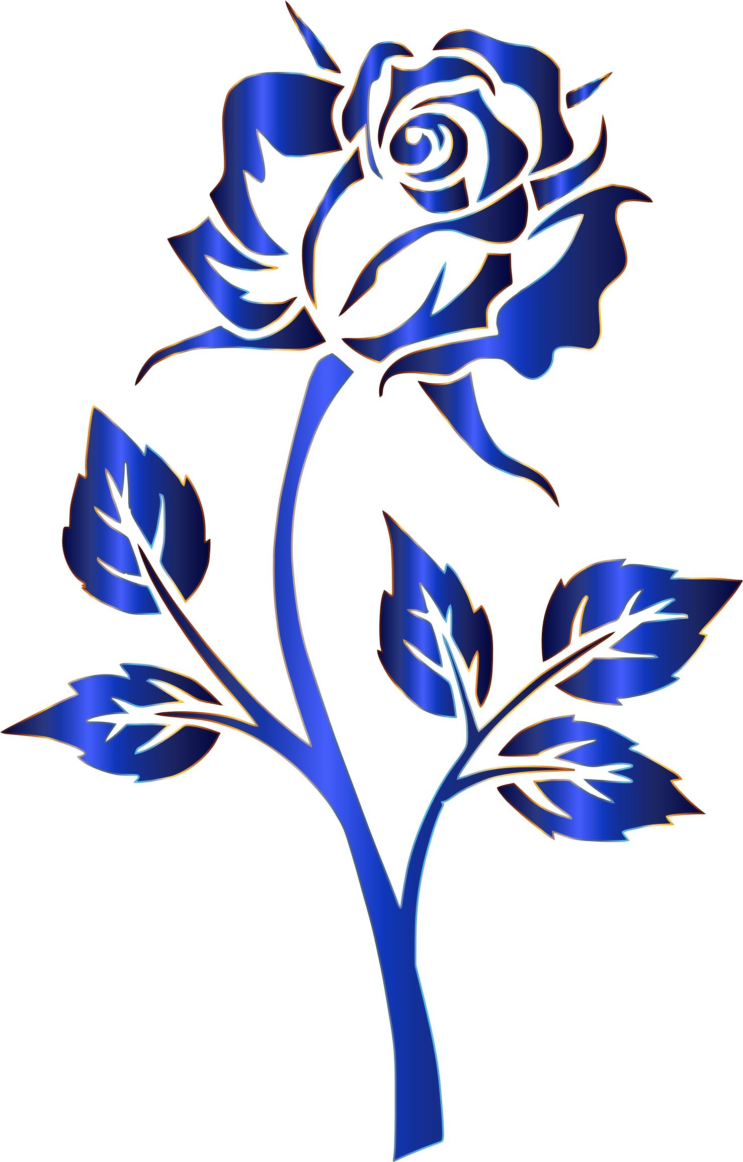 1477x2310 Azure Rose Silhouette No Background Icons Png