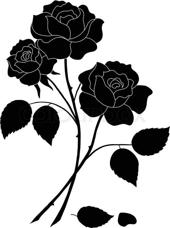 597x800 Blumen, Rose, Liebe, Symbol, Geschenke, Silhouette