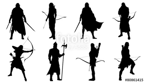 500x286 Elf Silhouettes Stock Image And Royalty Free Vector Files