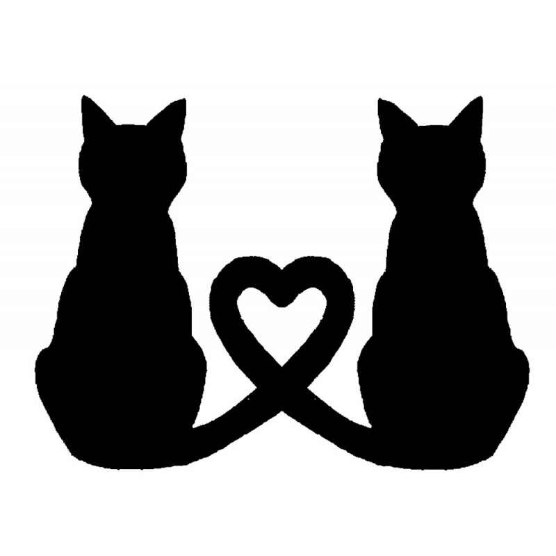 800x800 Love Cats Rubber Stamp
