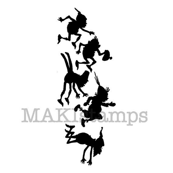 570x570 Silhouette Stamp Of Jumping Brownies Brownie By Makistamps