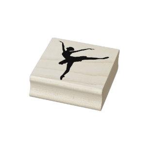 307x307 Ballet Dancer Rubber Stamps Zazzle