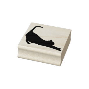 307x307 Cat Silhouette Rubber Stamps