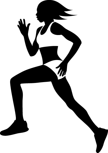 374x533 Female Runner Silhouette Wall Sticker