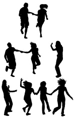 149x235 Silhouette Of Couple Running Stock Photos