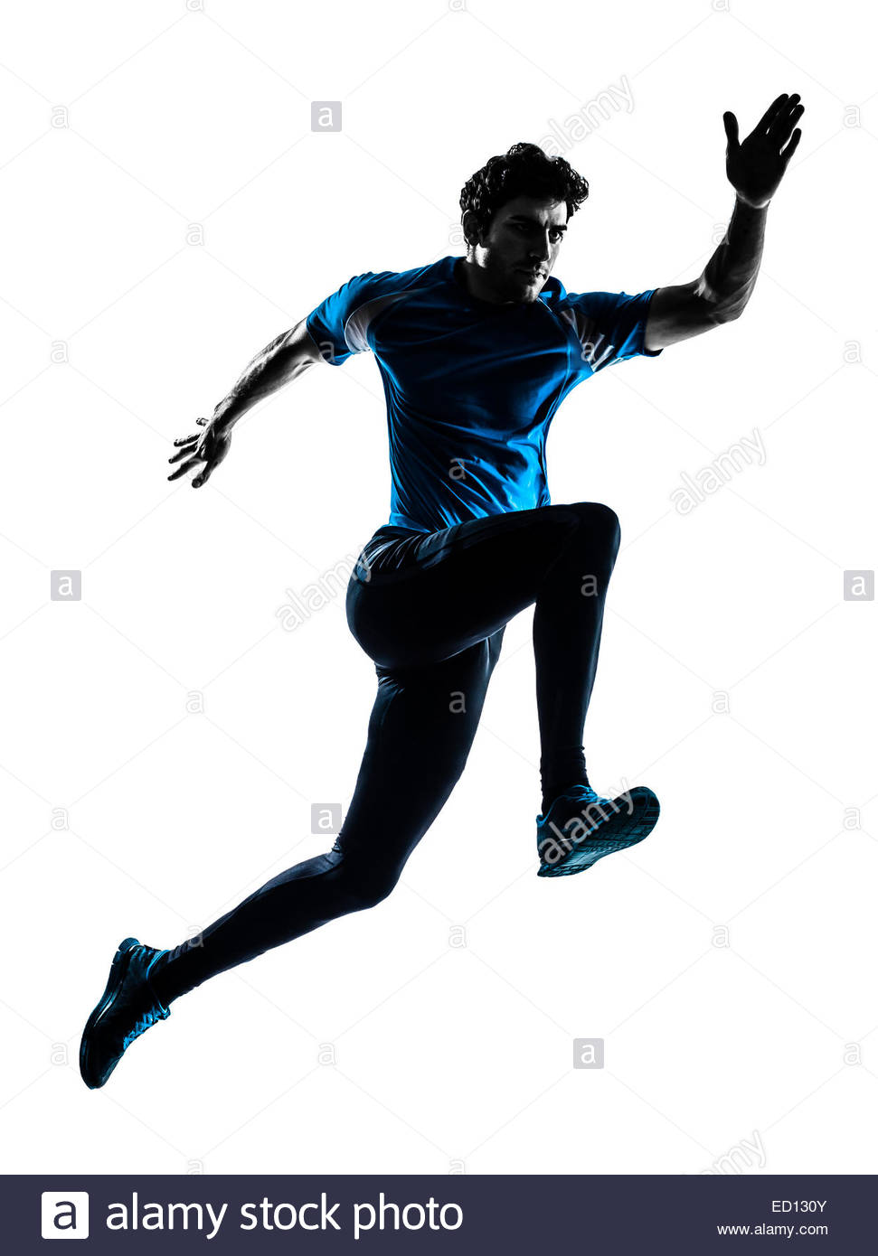 971x1390e Man Running Sprinting Jogging In Silhouette Studio Isolated