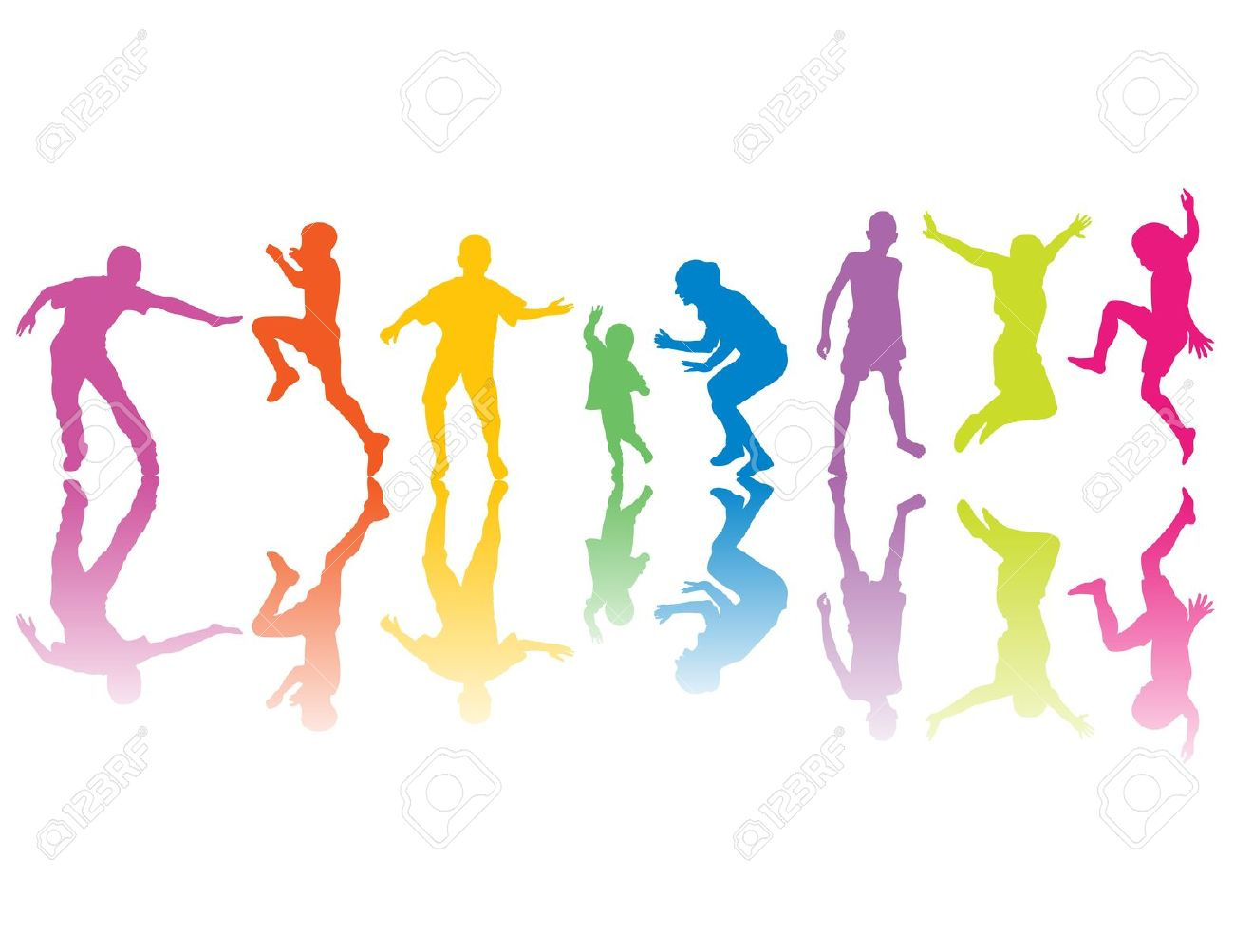 1300x1003 Colorful Clipart Running