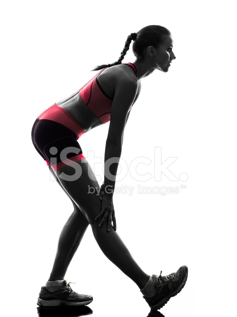 767x1024 Female Runners, Joggers Cross Country Background Stock Vector