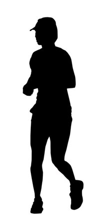 199x439 Free Runners Silhouette 3 1 Stock Photo