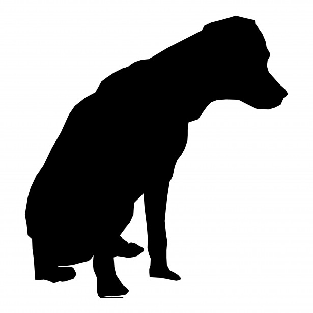 615x615 Dog Silhouette Drawing 03
