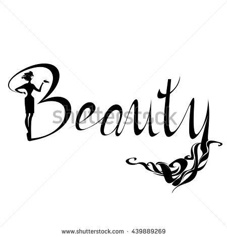 450x470 Beautiful Black Silhouette Woman Beauty Logo, Symbol, Icon, Sign