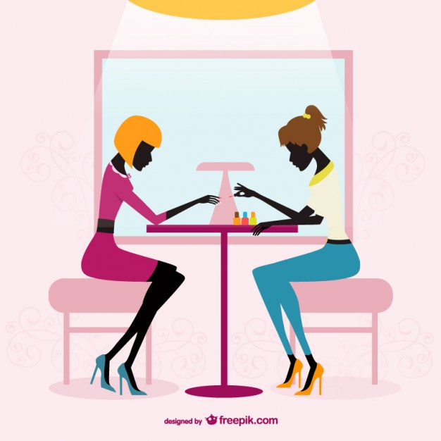 626x626 Beauty Salon Silhouettes Vector Free Download