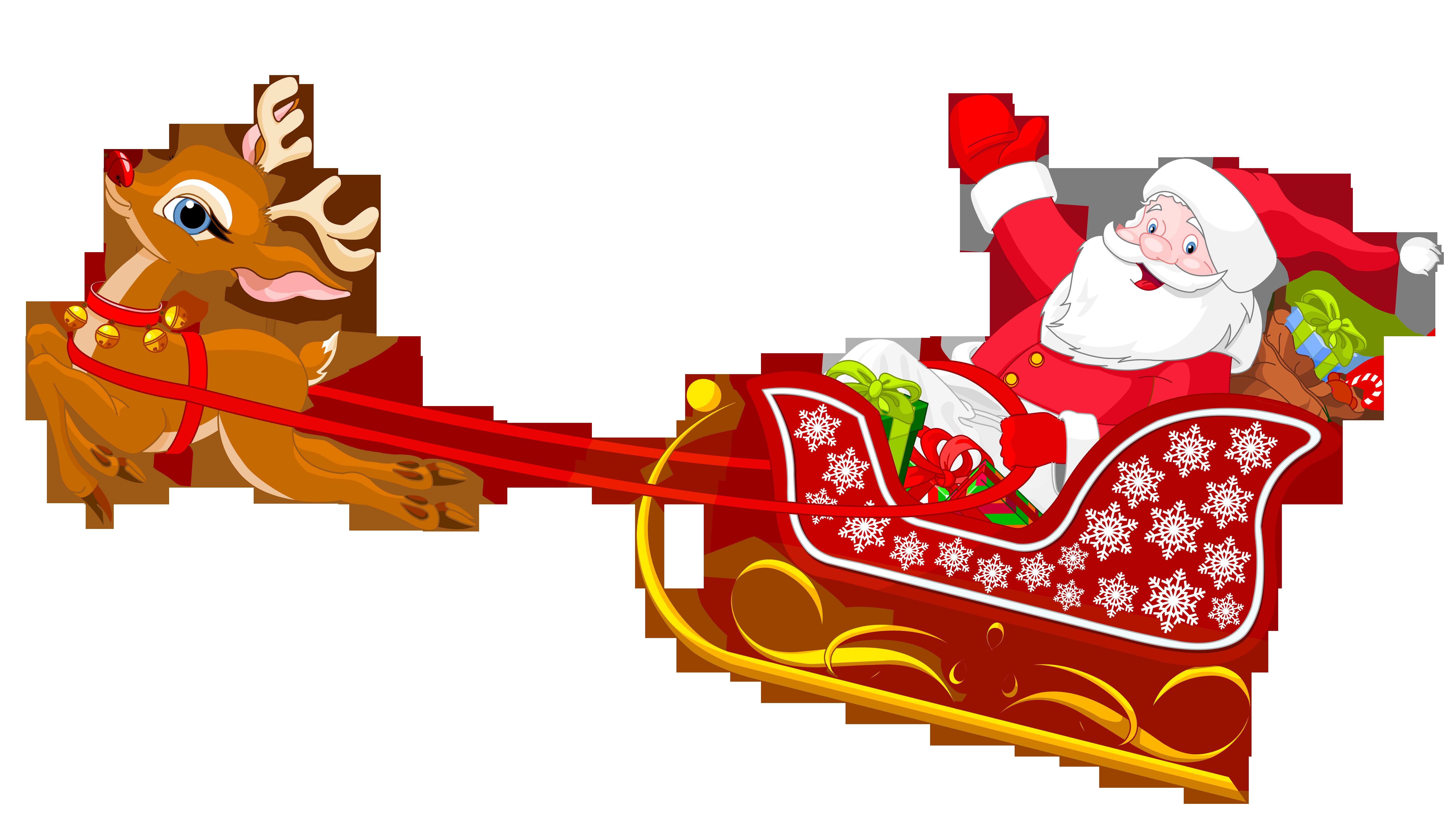 Completely new Silhouette Santa Sleigh Reindeer at GetDrawings.com | Free for  SP31
