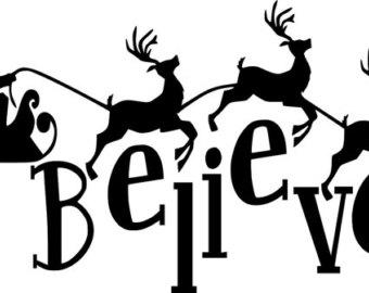 340x270 May Sale Santas Sleigh And Reindeer Postmark Mail Art Rubber