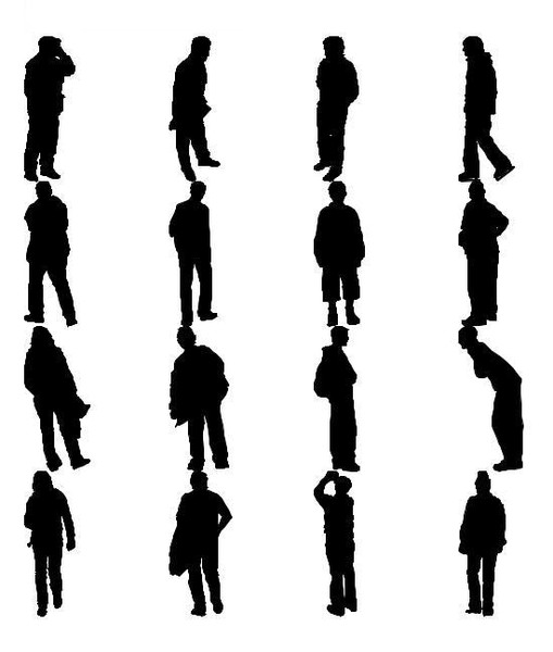 Silhouette Scale Figures