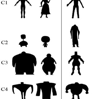 320x320 Figure 1 Simplified Character Silhouettes Scientific Diagram