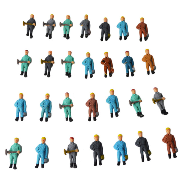 640x640 150 Scale Model Railway Working Figures Architecture Model