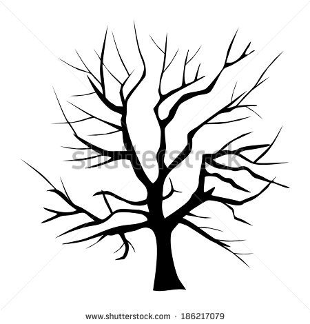 450x470 Scary Bare Black Tree Silhouette Scary Bare Black Tree