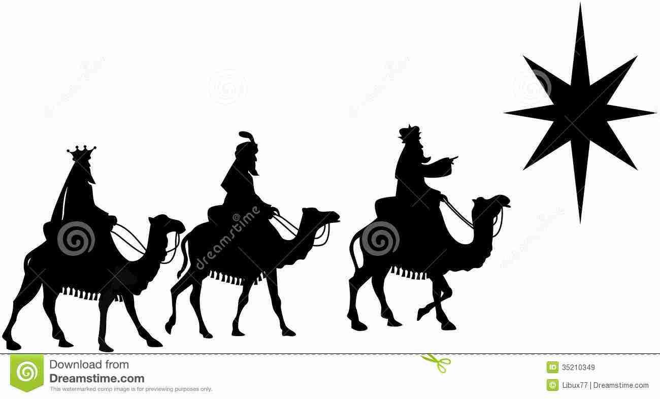 1300x786 Gifts Silhouette Scene Clipart Brilliant Three Wise Men